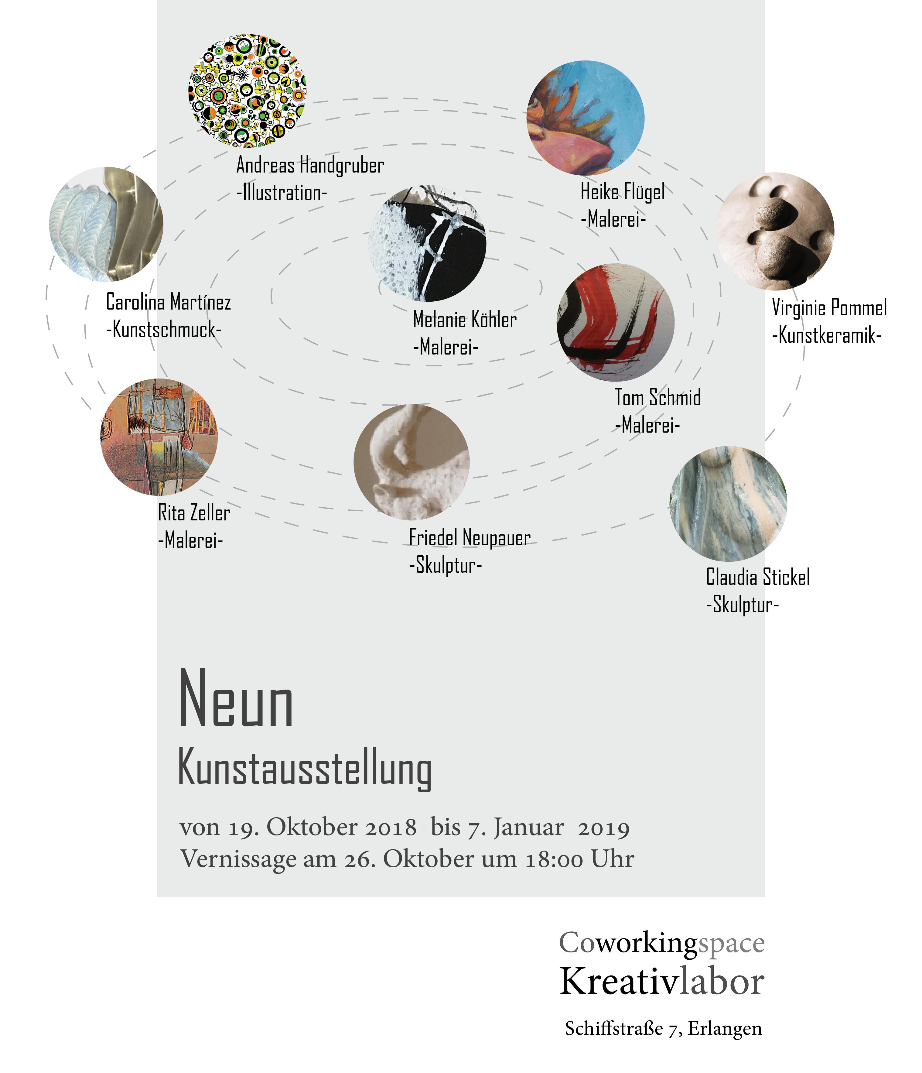 """art exhibition """"neun"""""""