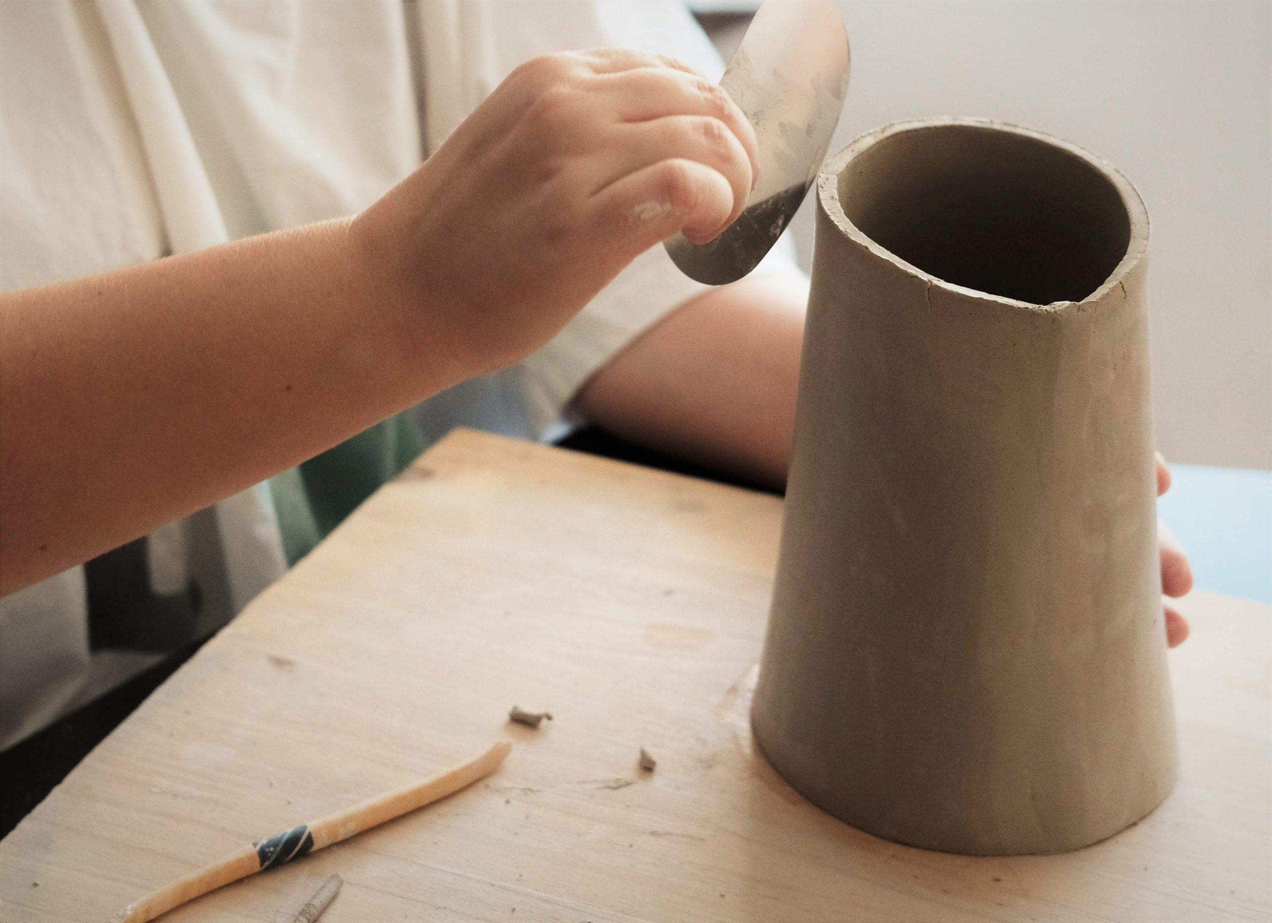 initiation vase ceramique main